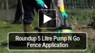 Roundup 5 Litre Pump N Go Fence Application